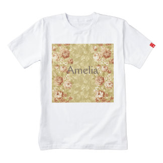 grunge,floral,vintage,damasks,wall paper,pattern,a zazzle HEART T-Shirt
