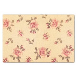 """Grunge floral vintage victorian shabby chic peach 10"""" x 15"""" tissue paper"""