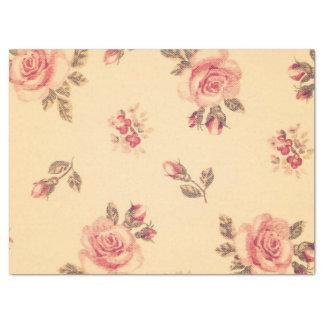 """Grunge floral vintage victorian shabby chic peach 17"""" x 23"""" tissue paper"""