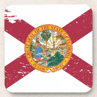 Grunge Florida Flag Drink Coaster