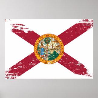 Grunge Florida Flag Poster