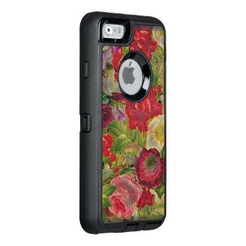 Grunge Flower Garden Otterbox Defender Iphone Case by TeensEyeCandy at Zazzle