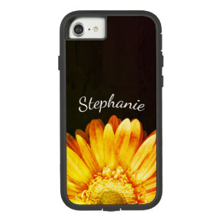 Grunge Flower Painting Background with Name Case-Mate Tough Extreme iPhone 7 Case