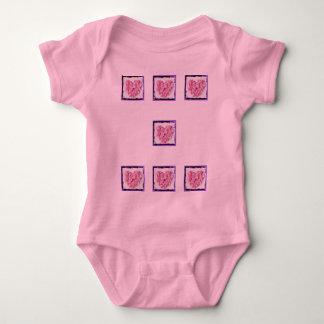 Grunge Flower Petal Heart T-shirt