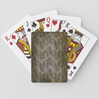 """Grunge Flower"" Playing Cards, Standard Index Card Decks"