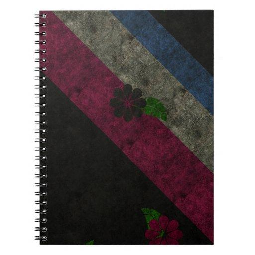 Grunge Flowers Notebooks