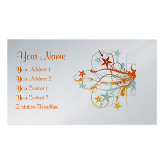 Grunge Flowers - Platinum - Customized Double-Sided Standard Business Cards (Pack Of 100)