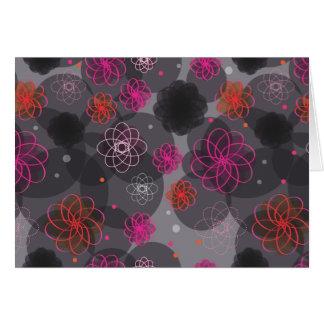 Grunge flowers retro card