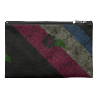Grunge Flowers Travel Accessory Bags