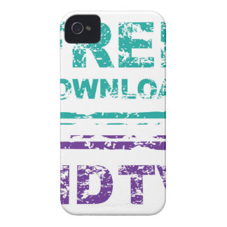 Grunge Free Download Stamp and HDTV stamp iPhone 4 Case-Mate Case
