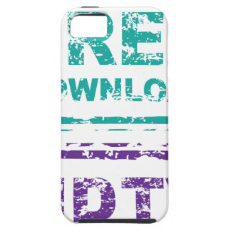 Grunge Free Download Stamp and HDTV stamp iPhone SE/5/5s Case