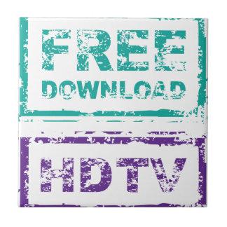 Grunge Free Download Stamp and HDTV stamp Tile