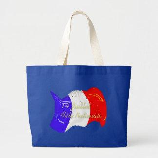 Grunge French Flag Bag