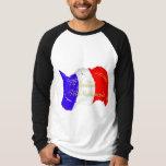 Grunge French Flag Raglan Long Sleeve T-Shirt
