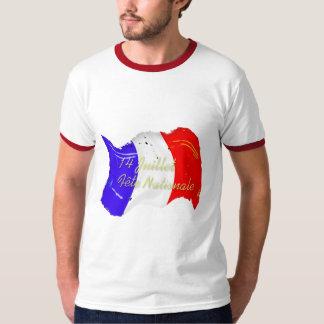 Grunge French Flag Ringer T-Shirt