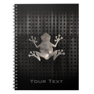 Grunge Frog Spiral Note Book