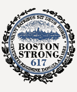 Grunge fuerte del sello de Boston Camiseta