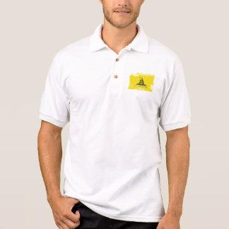 Grunge Gadsden Flag Polo Shirt