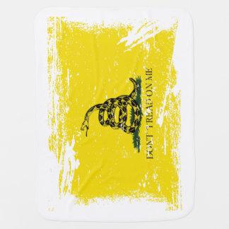 Grunge Gadsden Flag Swaddle Blanket