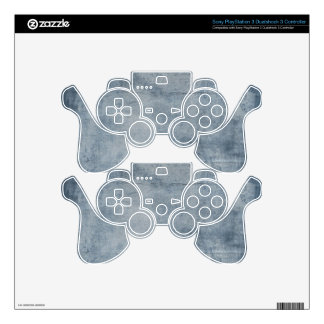 Grunge Gaming Skin Decals PS3 Controller Skins