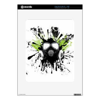 Grunge Gas Mask2 iPad Decals