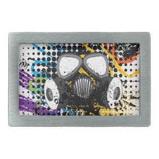 Grunge Gas Mask3 Belt Buckle