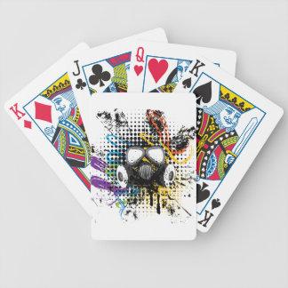 Grunge Gas Mask3 Bicycle Playing Cards