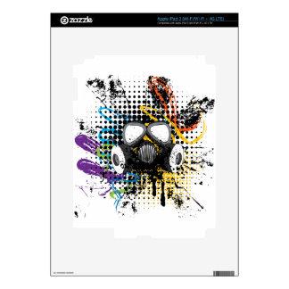 Grunge Gas Mask3 iPad 3 Skins