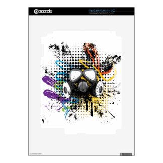 Grunge Gas Mask3 Skins For iPad 2
