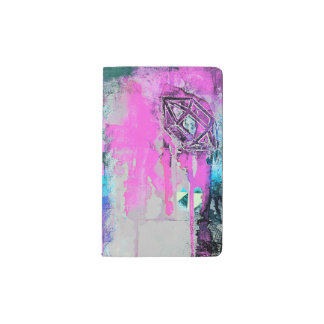 Grunge Gemstone Pocket Moleskine Notebook