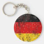 Grunge German flag Key Chain
