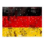 Grunge German flag Postcard