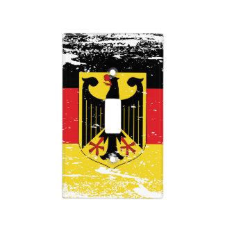 Grunge Germany Flag Light Switch Cover