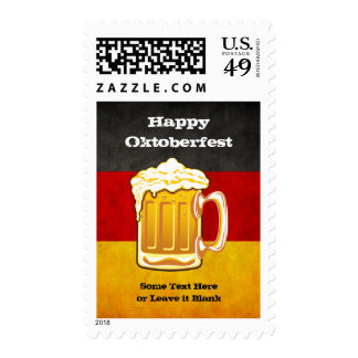 Grunge Germany Flag - Oktoberfest Beer Party Stamps