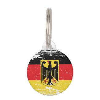 Grunge Germany Flag Pet Name Tag