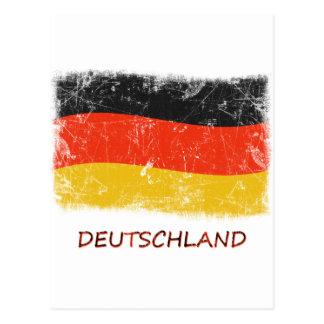 Grunge Germany Flag Postcard