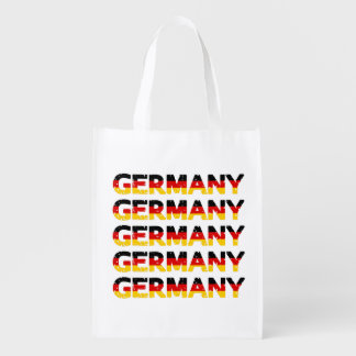Grunge Germany Nation Colours Reusable Grocery Bags