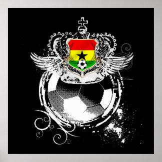 Grunge Ghana Black stars Warrior Kings Gifts Poster