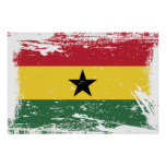 Grunge Ghana Flag Poster