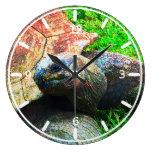 Grunge gigante de la tortuga de Aldabra, parque zo Relojes