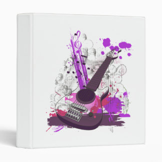 grunge girly electric guitar 3 ring binder