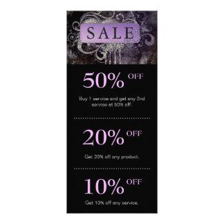 Grunge Glitter Salon Black Purple Promo Card