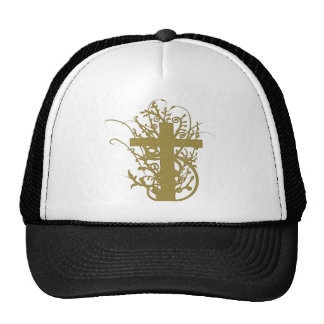 Grunge Gold Cross Tees and Gifts Hats