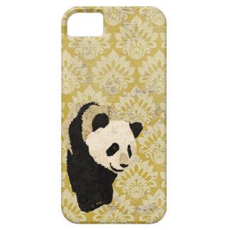 Grunge Gold Damask Panda  iPhone Case iPhone 5 Cases