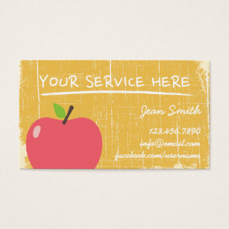 Grunge Gold Wood Texture & Big Apple Business Card