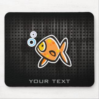 Grunge Goldfish Mouse Pad