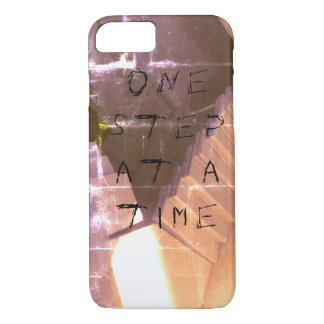 """Grunge/Gothic """"One step at a time"""" Phone Case"""