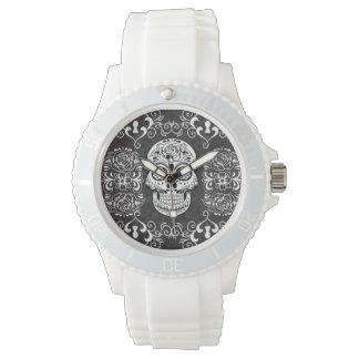 Grunge gótico blanco del azúcar del negro relojes