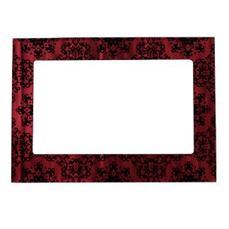 Grunge gótico rojo oscuro y negro geométrico marcos magnéticos de fotos