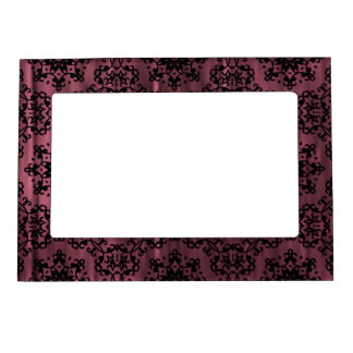 Grunge gótico rosado y negro oscuro geométrico marcos magneticos para fotos